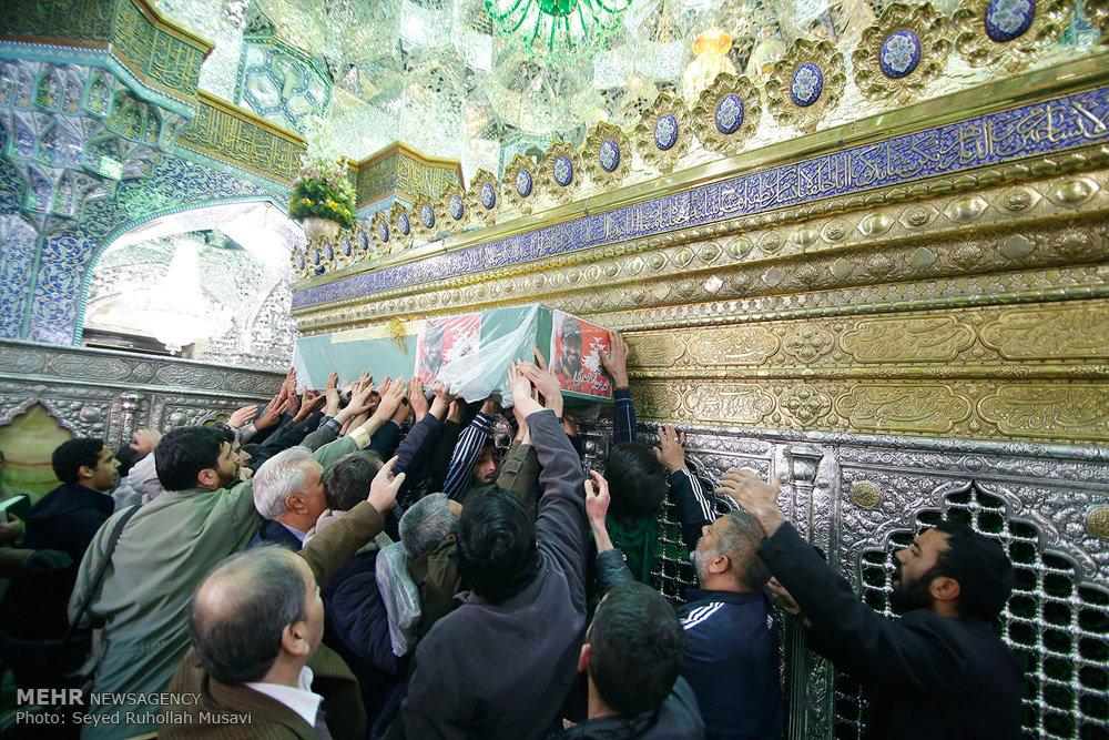 مراسم تشییع دو شهید مدافع حرم در قم