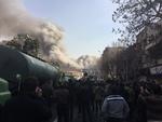 لحظة انهيار مبنى بلاسكو التجاري في طهران /فيلم