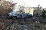 نجات معجزهآسای سرنشینان خودرو در آتشسوزی پژو ۴۰۵