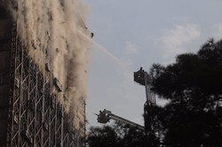 Fire at Plasco Shopping Center