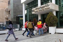 انتقال مجروحان حادثه تخریب ساختمان پلاسکو به بیمارستان