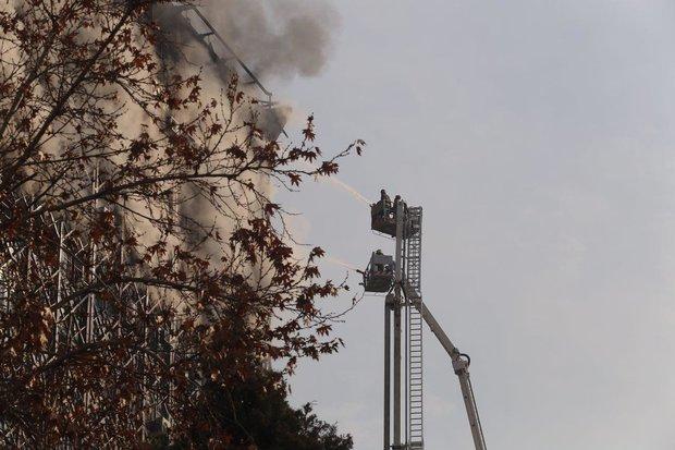 Fire at Plasco Shopping Center