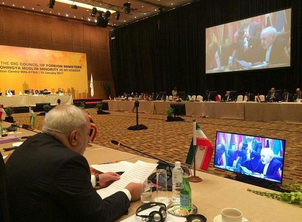 Zarif urges humanitarian aid delivery to Rohingya Muslims