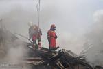 فیلم: جانفشانی ماموران آتشنشانی هنگام فروریختن پلاسکو