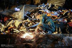عملیات امداد و نجات حادثه دیدگان ساختمان پلاسکو