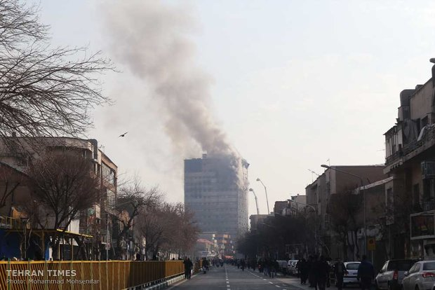 Plasco Building collapses after massive blaze