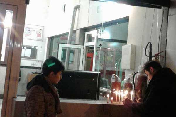 مردم اردبیل به جانباختگان حادثه پلاسکو ادای احترام کردند