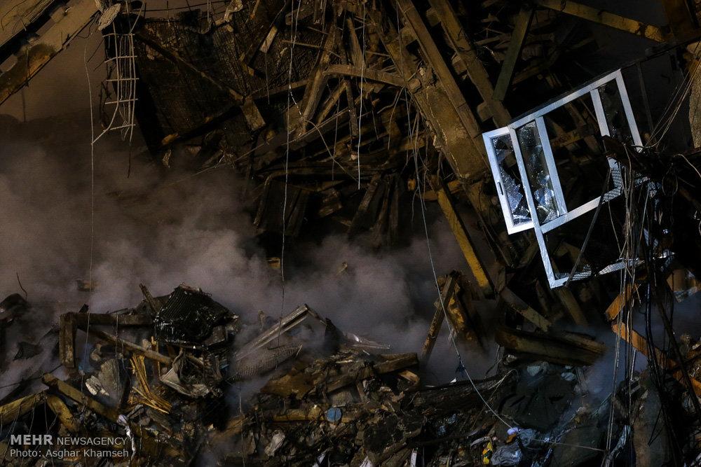عملیات امداد و نجات حادثه دیدگان ساختمان پلاسکو -۱