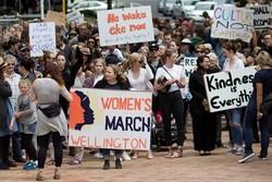 مسيرة نسائية في  نيوزيلندا ضد ترامب