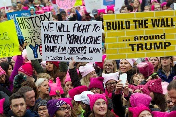 تظاهرات زنان آمریکایی علیه ترامپ