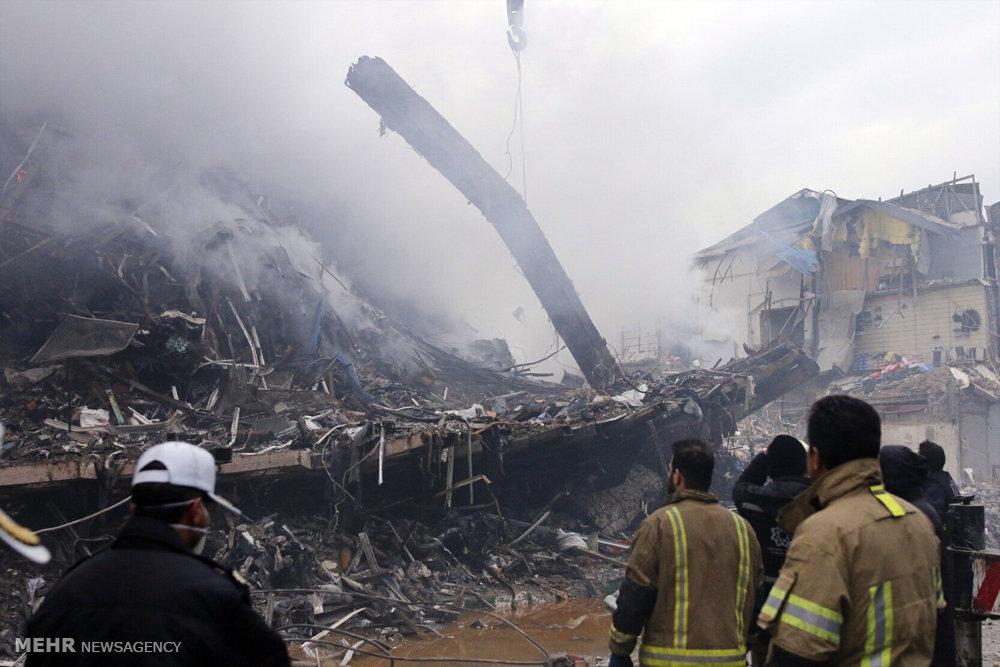 حضور هیئت دولت در محل حادثه ساختمان پلاسکو
