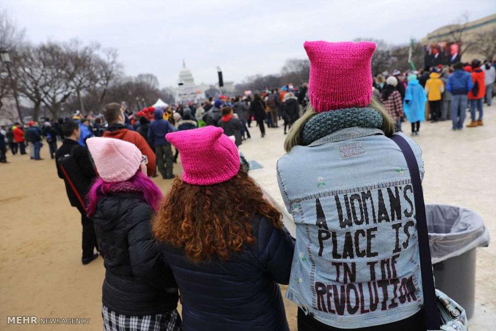 تظاهرات علیه ترامپ همزمان با مراسم تحلیف