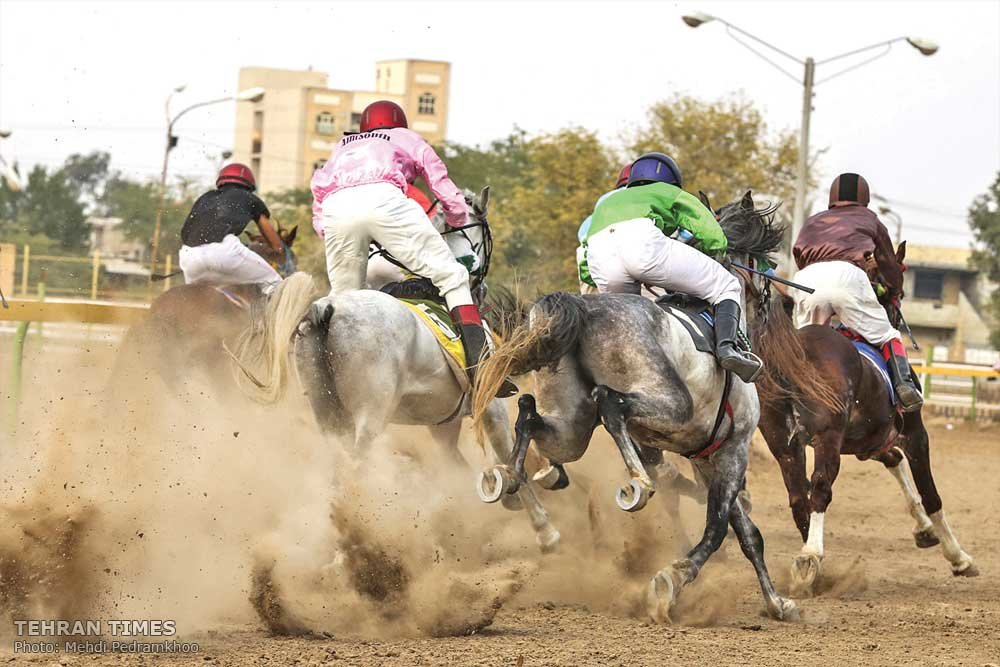 Horse-riding competition in Ahvaz