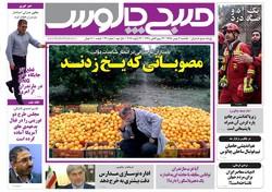 صفحه اول روزنامه های مازندران ۳ بهمن ماه ۹۵
