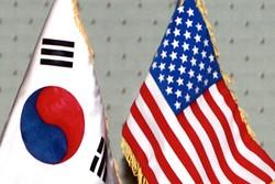 پرچم آمریکا و کره جنوبی