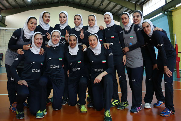 Female volleyball outfit leaves for Maldives