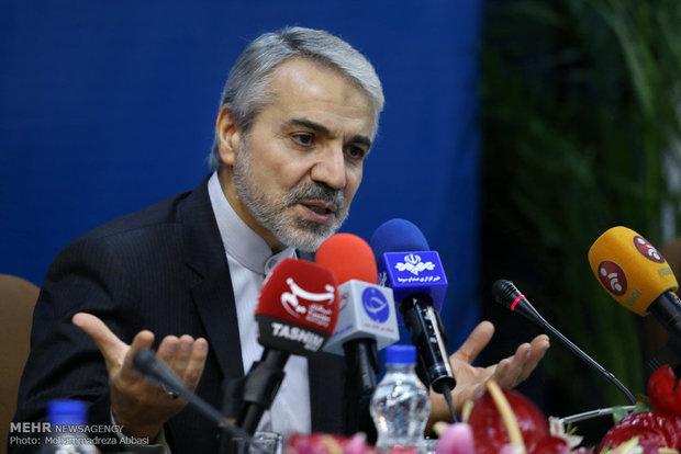 المتحدث باسم الحكومة: سيتم متابعة مشروع السكك الحديدية شمال غرب ايران