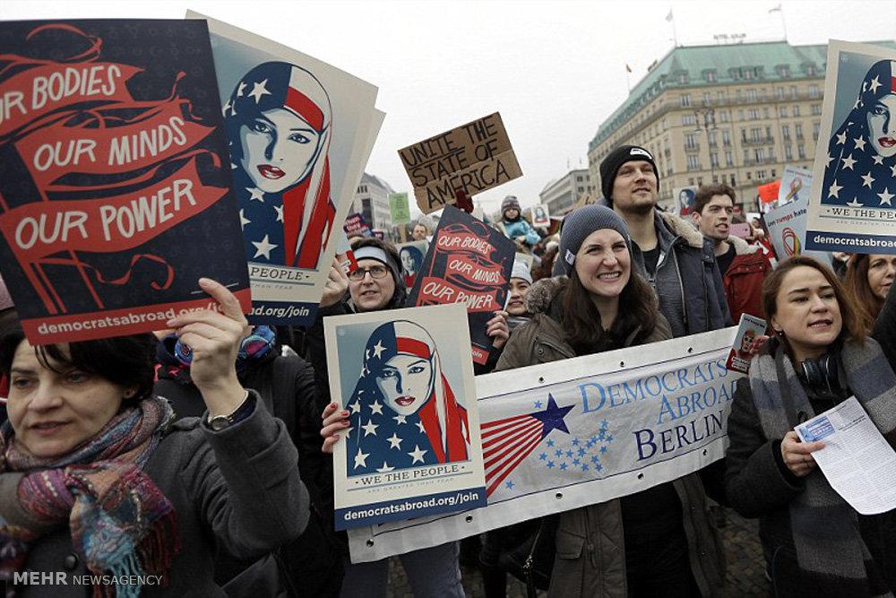 تظاهرات زنان آمریکا علیه ترامپ