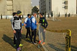 آندرانیک تیموریان در تمرین تیم فوتبال استقلال