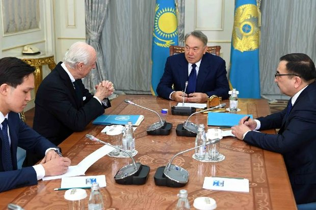 Kazakh president 'invests hope' on improvment in Syrian situation