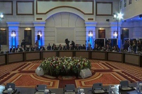 لقاء الوفد الايراني والسوري في آستانا 5