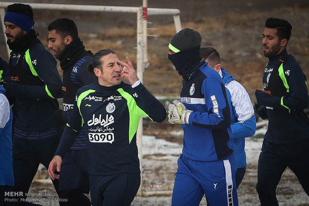 تمرین تیم فوتبال استقلال تهران