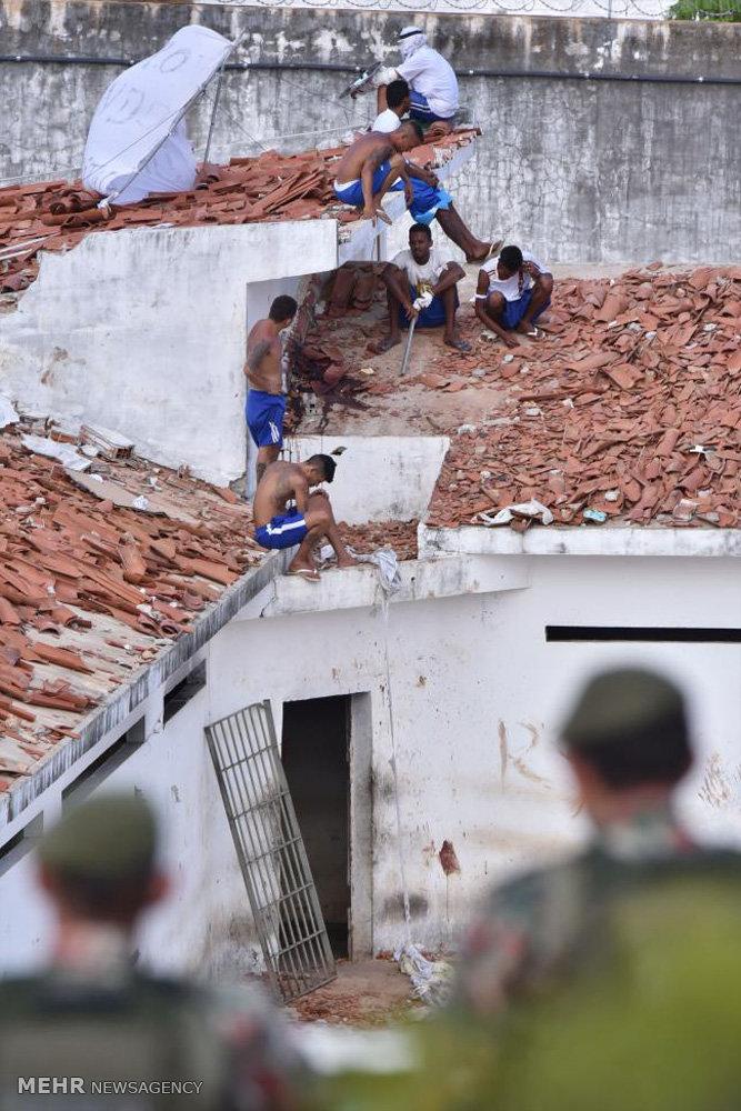 تصاویر آشوب و درگیری در زندان های برزیل