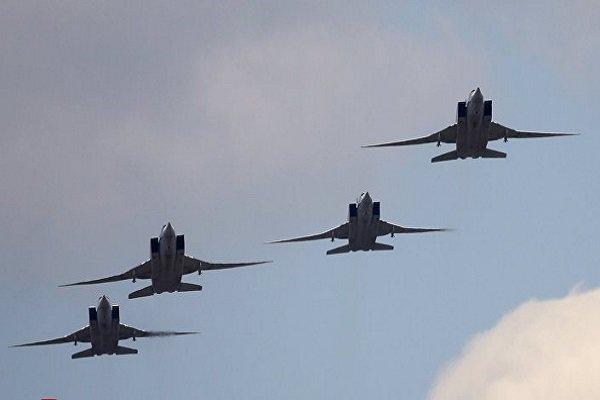 Teröristlerin mevzilerinin Rusya tarafından bombalanması