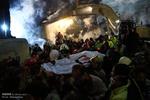 رفع أنقاض برج بلاسكو بعد انتشال آخر  جثة رجال الإطفاء الشهداء