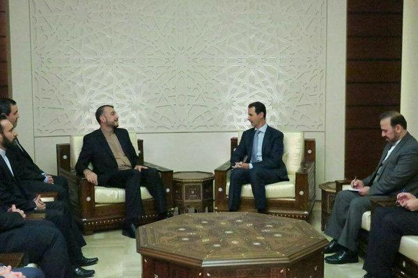 امير عبد اللهيان يلتقي الرئيس الأسد