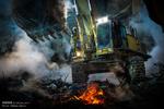 استمرار عمليات رفع الانقاض من مبنى بلاسكو التجاري / صور