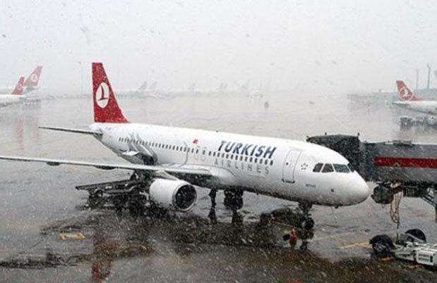 عاصفة ثلجية تغلق مطار أتاتورك الدولي
