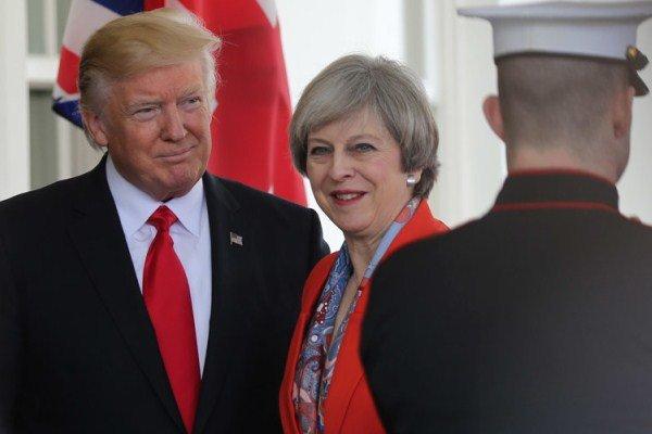 ترزا می و دونالد ترامپ