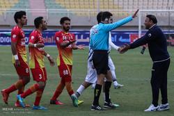 دیدار تیم های فوتبال فولاد خوزستان و سیاه جامگان