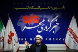 ندوة مع الشيخ الدقاق في مقر وكالة مهر للأنباء/صور