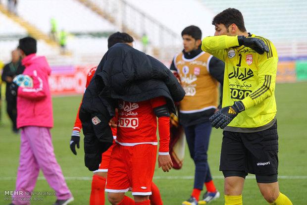 دیدار تیمهای فوتبال تراکتورسازی و ماشینسازی تبریز