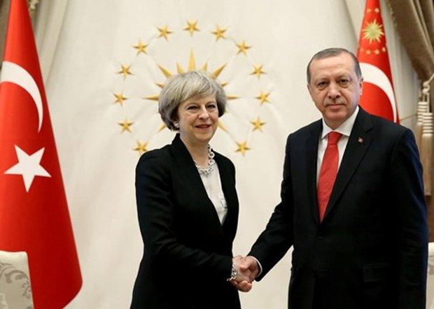 Erdoğan ve Theresa May görüştü