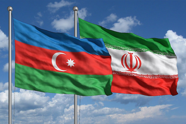 Iran and Azerbaijan flags