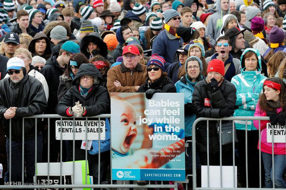 تظاهرات مخالفان سقط جنین در آمریکا