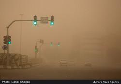 Dust storms choking southwestern Iran