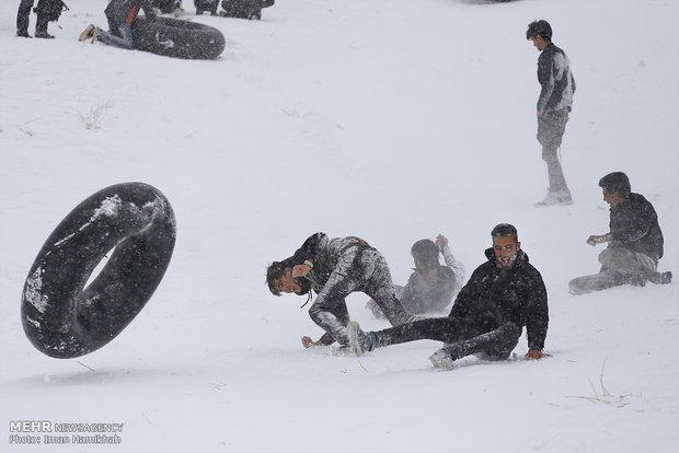 Winter recreation in Hamedan