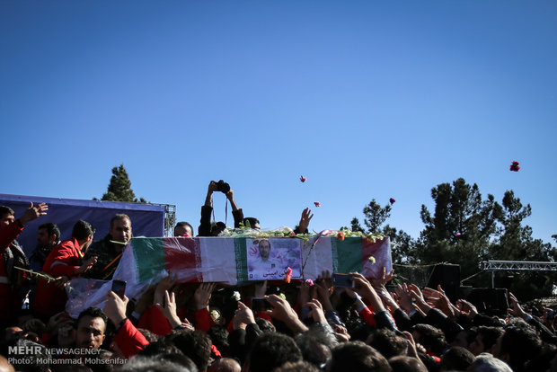 Burial of martyred firefighters