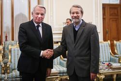 دیدار وزیر خارجه فرانسه با رئیس مجلس