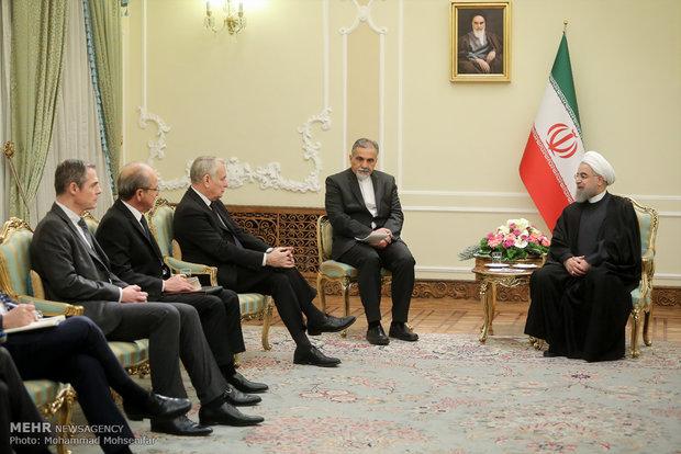 دیدار وزیر امور خارجه فرانسه با دکتر حسن روحانی
