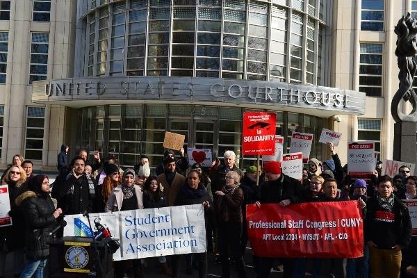 واکنش دانشجویان نیویورکی به بازداشت دانشجوی ایرانی