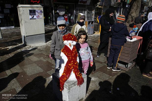 Snowmen festival in Hamedan