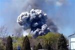 لحظه وقوع انفجار در «کییف» اوکراین