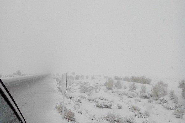 Snow covers Birjand