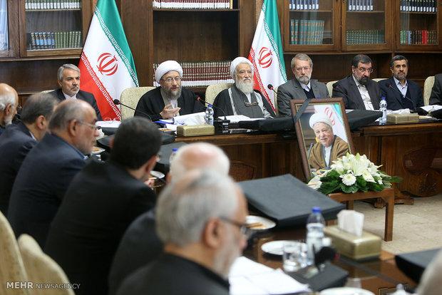 Expediency Council meets sans Ayat. Hashemi