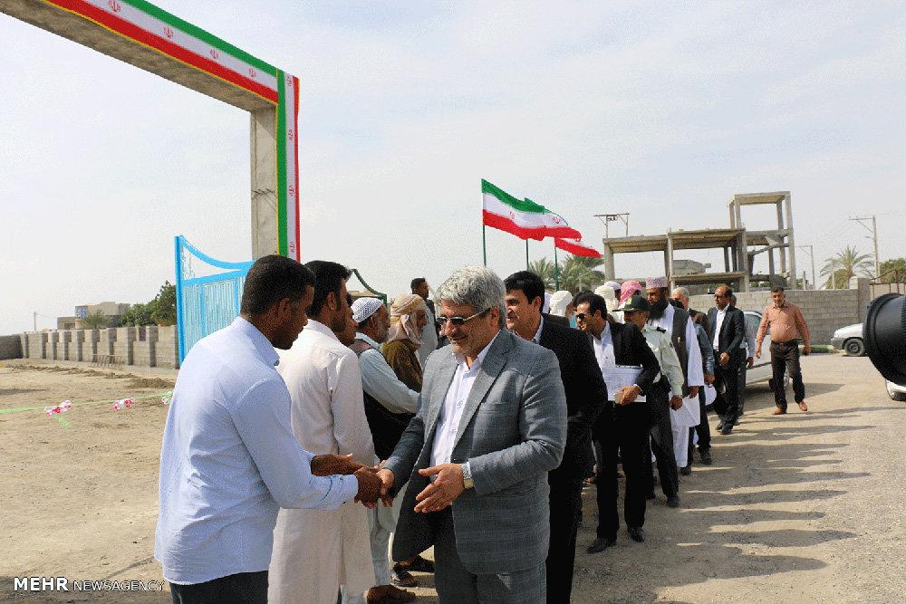 افتتاح پروژه های عمرانی در شهرستان جاسک
